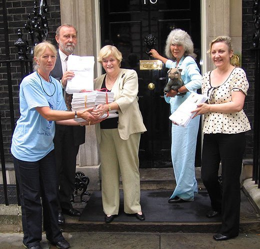 Badger Trust, Jilly Cooper, Ann Widdecombe and NASC at Downing Street