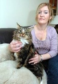 Donna Clorley with two-year-old cat Radar