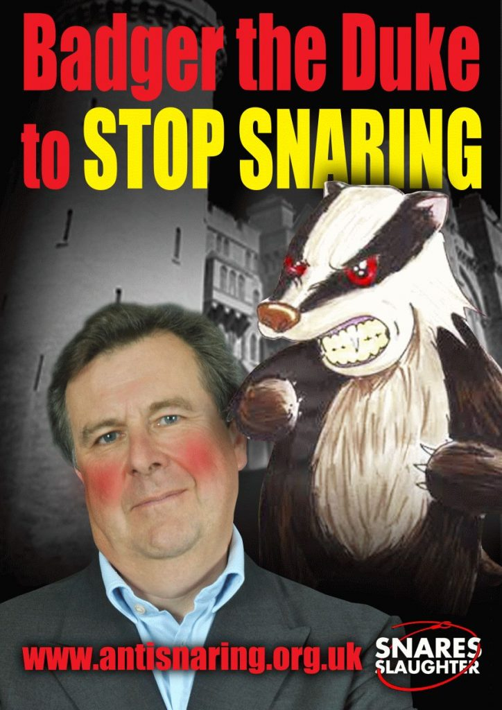 Duke of Norfolk - Stop Snaring Wildlife