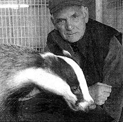 Ken Wood with a rescued badger