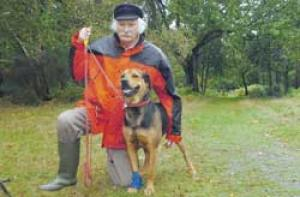 Rottweiler injured in illegal snare